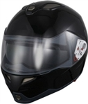 Adult Black Modular Motorcycle Helmet (DOT Approved)