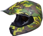 Youth Camouflage Motocross Helmet (DOT Approved)