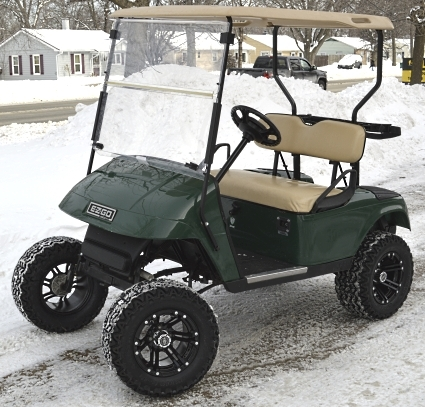 Ez Go 36v Electric Lifted Golf Cart - Grhopper Edition With ... Alternative Electric Golf Cart on electric 4 wheelers, luxury carts, electric deer cart, electric push cart, ezgo carts,