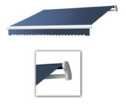 High Quality Blue 11.5' x 8' Retractable Patio Awning Canopy