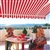 High Quality Red and White Stripes 11.5' x 8' Retractable Patio Awning Canopy