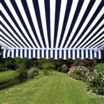High Quality Blue and White Stripes 12' x 10' Retractable Patio Awning Canopy