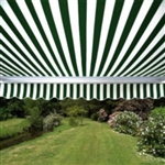 High Quality Green and White Stripes 12' x 10' Retractable Patio Awning Canopy