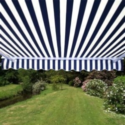 High Quality Blue and White Stripes 13' x 10' Retractable Patio Awning Canopy