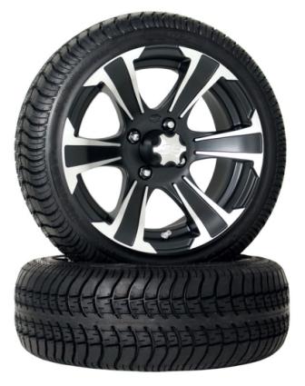 4 Brand New 205x30 14 Ultra Gt Tires On 14x6 Ss312 Black Alloy Golf Cart Wheels
