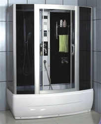 Steam Shower Enclosure w/ TV, Back + Foot Massage, & Stereo