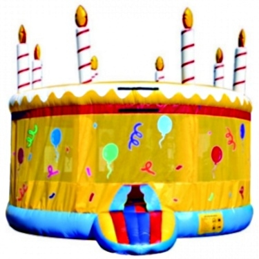 Wondrous Commercial Grade Inflatable Birthday Cake Jumper Bouncer Personalised Birthday Cards Bromeletsinfo