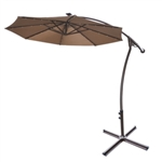 Brand New 9' Hanging Cantilever Patio Umbrella w/ 40 LED Lights