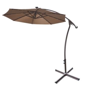 brand new 9 39 hanging cantilever patio umbrella w 40 led lights. Black Bedroom Furniture Sets. Home Design Ideas