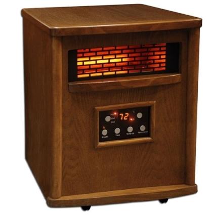 1500 watt lifesmart infrared 4 element quartz heater w. Black Bedroom Furniture Sets. Home Design Ideas