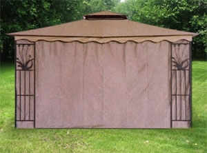 Gazebo Canopy Tent Privacy Side Wall Panel Fits 10 X 12