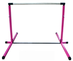 High Quality Pink 3'-5' Adjustable Gymnastics Bar