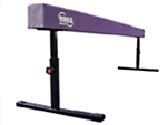 "High Quality Purple 8' Gymnastics Balance Adjustable 14""-24"" High Beam"
