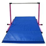 High Quality 3'-5' Pink Adjustable Bar with Blue 8' Folding Mat