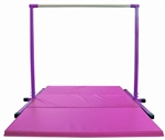 High Quality 4' Purple Horizontal Bar with Pink 6' Folding Mat