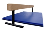 "High Quality Tan 8' x 18"" Balance Beam with Blue 6' Folding Mat"
