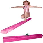 High Quality Pink 12' Gymnastics Folding Beam