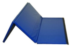 "High Quality Blue 4' x 6' x 1-3/8"" Folding Panel Gymnastics Mat"