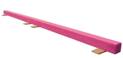 High Quality Pink 12' Gymnastics Balance Low Beam