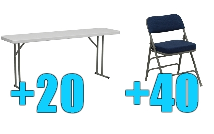 Cool High Quality Package Of 40 Upholstered Folding Chairs 20 6Ft Folding Tables Frankydiablos Diy Chair Ideas Frankydiabloscom