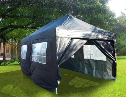 Heavy Duty 10 X 20 Black Ez Pop Up Party Tent