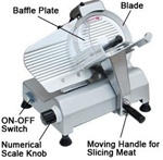 "Professional Food Slicer Cheese Meat Cutter with 10"" Blade"