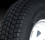 "15"" 8 Ply Bias Trailer Tire - 225/75D15"