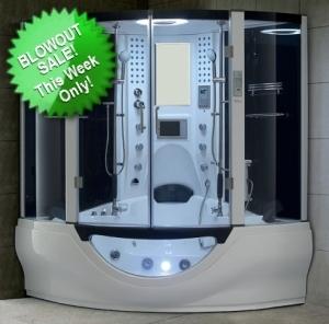 Brand New White Steam Shower Whirlpool Bathtub With Massage