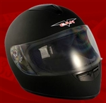 Adult Flat Black Full Face Motorcycle Helmet (DOT Approved)