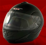 Adult Black Flip Up Motorcycle Helmet (DOT Approved)