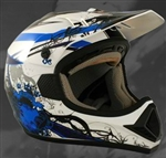 Adult Blue Motocross Helmet (DOT Approved)