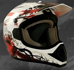 Adult Red Motocross Helmet (DOT Approved)
