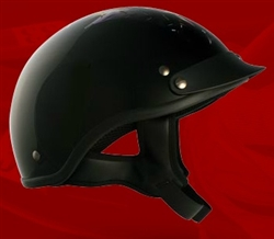 Adult Fire Black Half Helmet Cruising Helmet (DOT Approved)