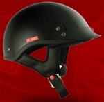 Adult Glossy Black Half Helmet Cruising Helmet (DOT Approved)