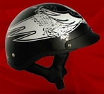 Adult Scream Black Half Helmet Cruising Helmet (DOT Approved)