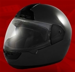 Adult Black Face Motorcycle Helmet (DOT Approved)