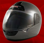 Adult Silver Face Motorcycle Helmet (DOT Approved)