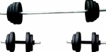 100lb Vinyl Barbell/Dumbbell Set