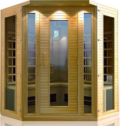 Brand New 3-4 Person Corner Infrared Sauna ETL Approved
