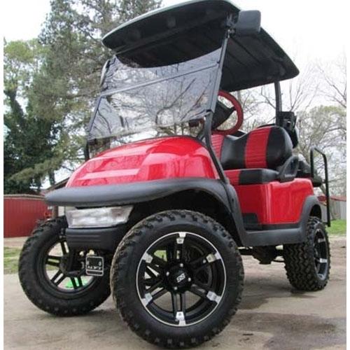 48v red club car precedent lifted electric golf cart. Black Bedroom Furniture Sets. Home Design Ideas