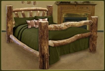 Brand New Custom Rustic Furniture Log Bed