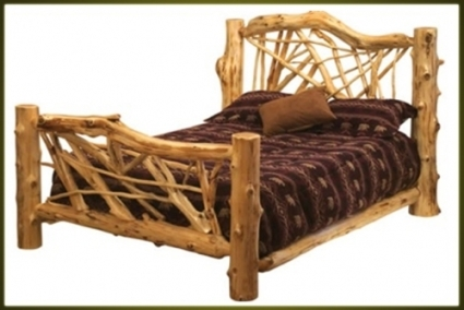 Rustic Furniture Custom Log Bunk Bed