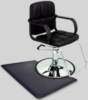 Stupendous Black Leather Modern Hydraulic Barber Chair With Anti Fatigue Comfort Floor Mat Gmtry Best Dining Table And Chair Ideas Images Gmtryco