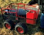 High Quality X4 Steel Mesh 4-Wheel Trailer