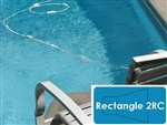 Complete 12'x24' Rectangle 2RC InGround Swimming Pool Kit with Steel Supports