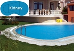 Complete 14'x28' Kidney In Ground Swimming Pool Kit with Polymer Supports