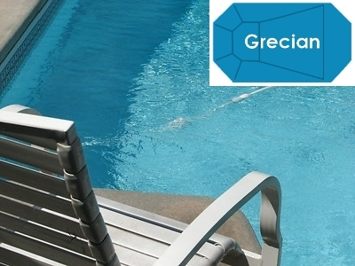 Complete 16\'x32\' Grecian In Ground Swimming Pool Kit with Steel Supports