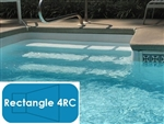 Complete 16'x36' Rectangle 4RC InGround Swimming Pool Kit with Wood Supports