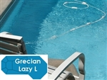 Complete 16'x42' Grecian Lazy L  In Ground Swimming Pool Kit with Polymer Supports