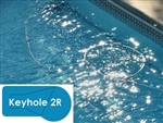 Complete 18x36 Keyhole 2R In Ground Swimming Pool Kit with Steel Supports